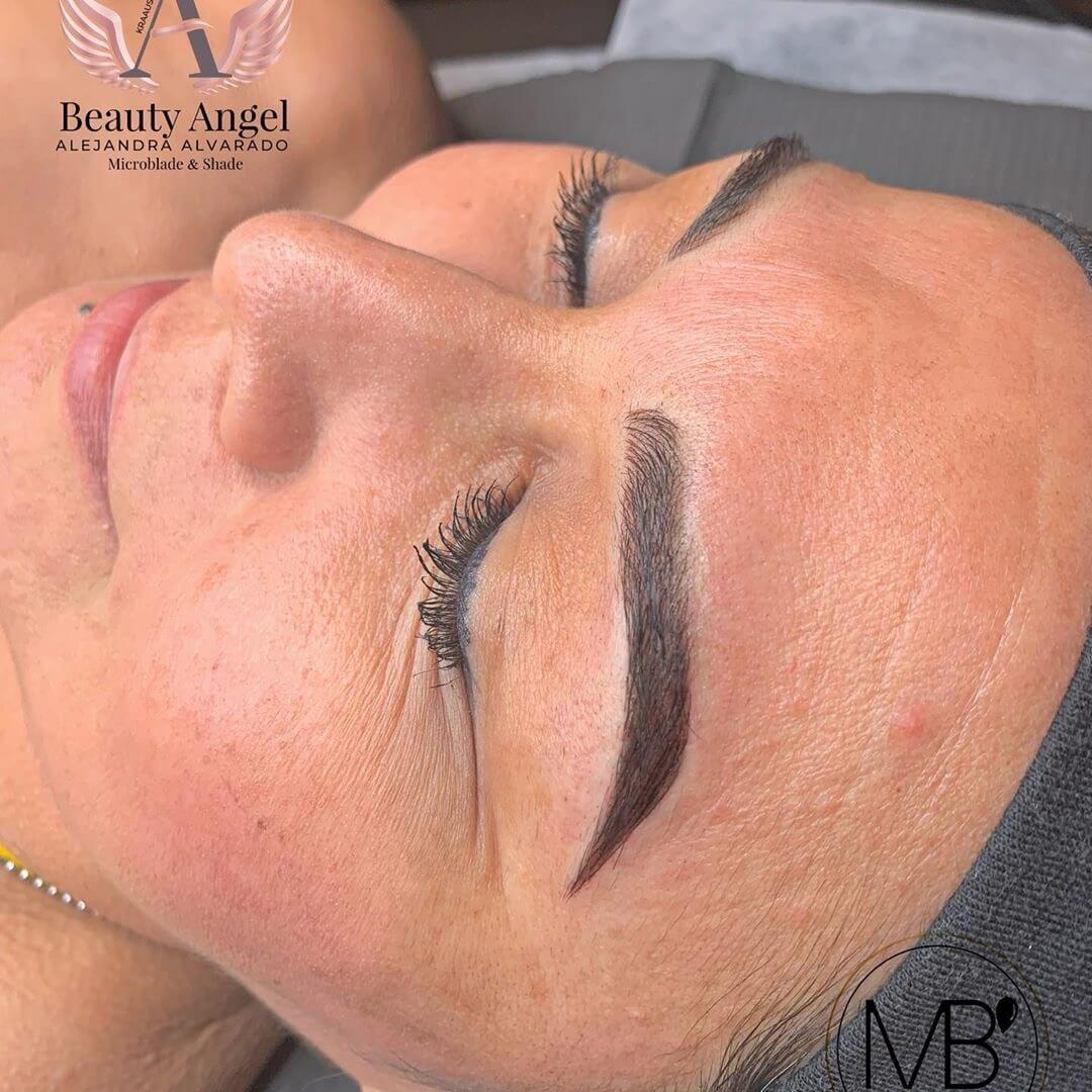 Microblading ATX Mili's Beauty Studio Microblading Before and After.