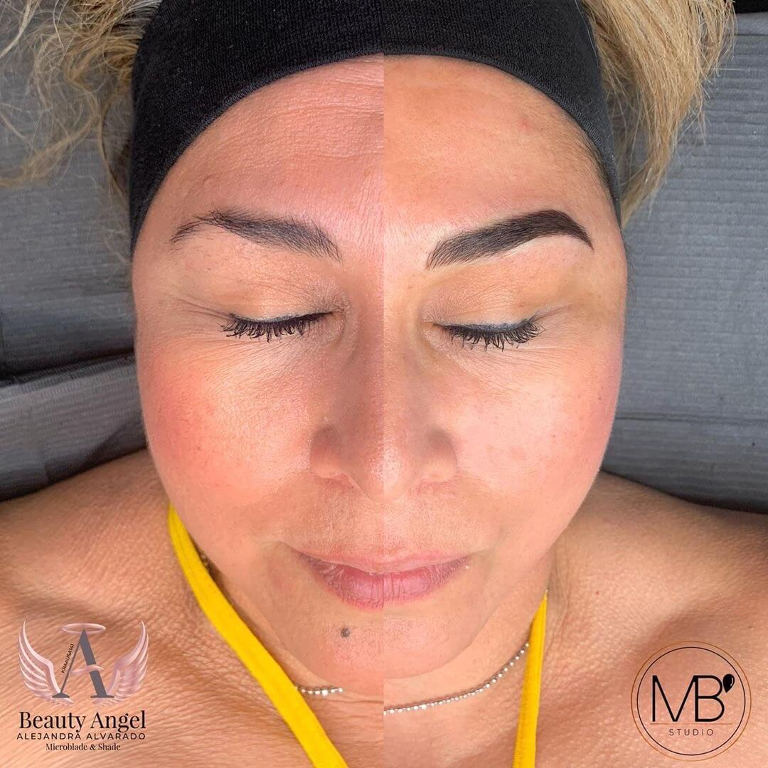 Microblading ATX Mili's Beauty Studio Microblading Before and After