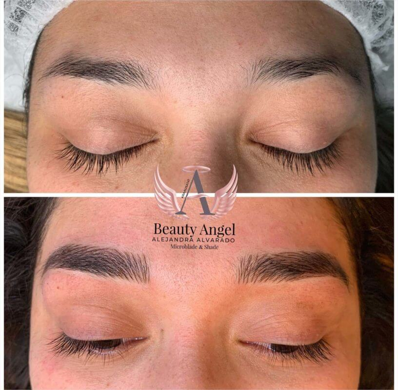 Microblading Austin Texas Millis Beauty Studio Before and After
